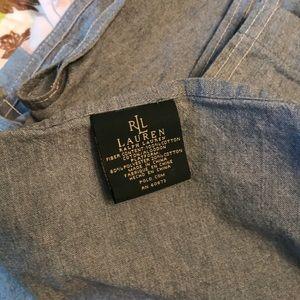 Ralph Lauren chambray bedskirt 💕